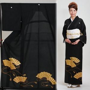 留袖 レンタル・【絽】(7月/8月向け着物)黒留袖 フルセット NT-69