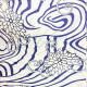 【浴衣 メンズ レンタル】ゆかたレンタル 3点セット☆浴衣・帯・下駄☆nt-my111 流水に花
