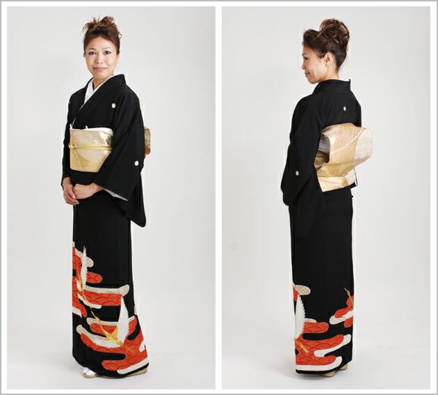 黒留袖 レンタル [標準サイズ:150cm〜160cm] 留袖 レンタル 着物 留め袖 NT-304