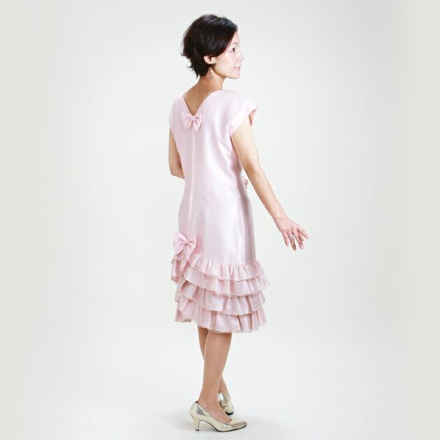 レディースドレス レンタル 7-9号 ピンク ワンピース 3306
