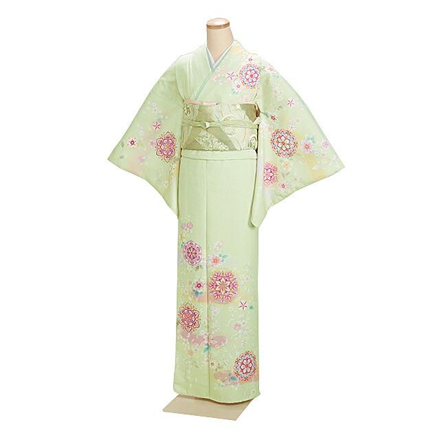 訪問着 レンタル 袷 10月〜5月[〜168cm] お茶会 卒業式 入学式 着物 houmongi181