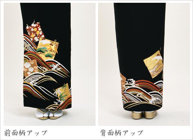 黒留袖 レンタル [トールサイズ:160cm〜175cm] 留袖 レンタル 着物 留め袖 NT-908