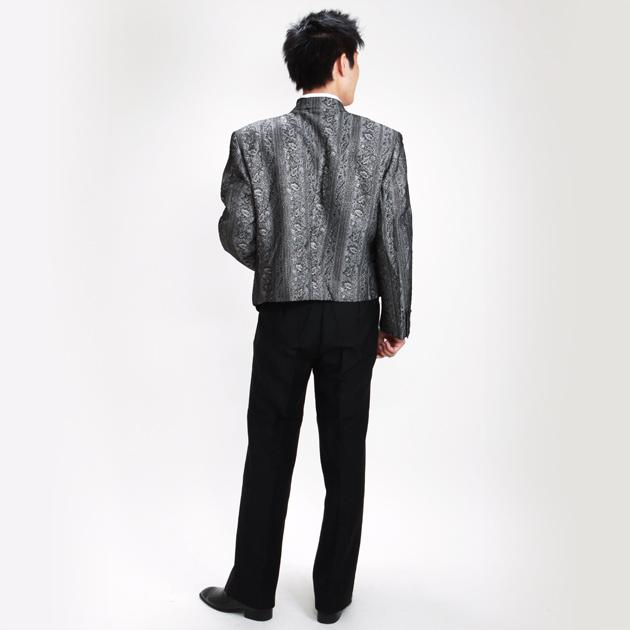 【スペンサー タキシード レンタル】L・XLサイズ/175cm〜185cm/グレーゴールド パーティ 演奏会 005c