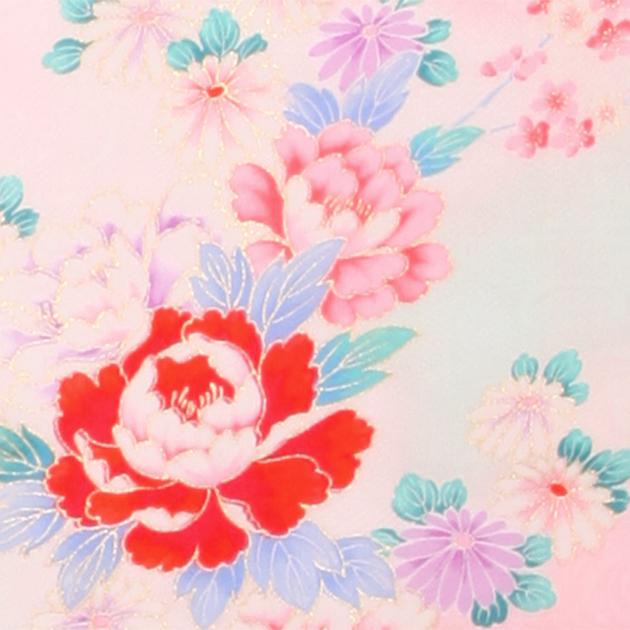 お宮参り レンタル 初着 産着 レンタル 女の子 赤ピンク/牡丹・蝶 【日本製高級正絹】 赤ちゃん 祝着 l-53