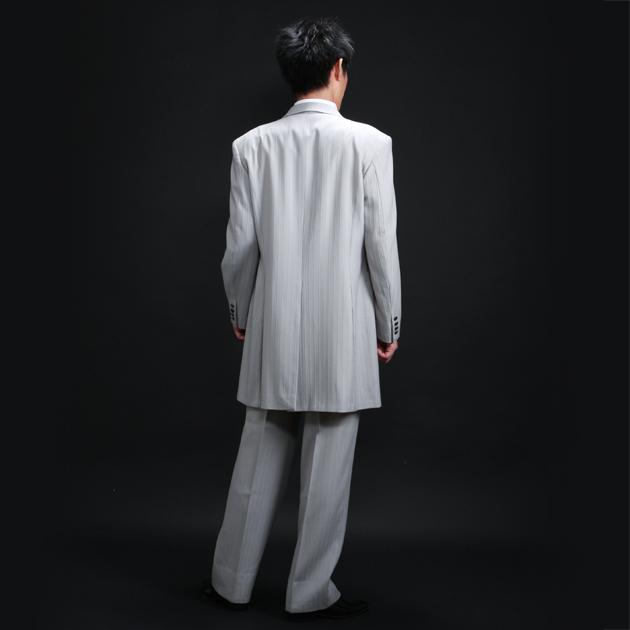 タキシード レンタル 【バリスフェール グレーロングタキシード レンタル】新郎 結婚式 nt022