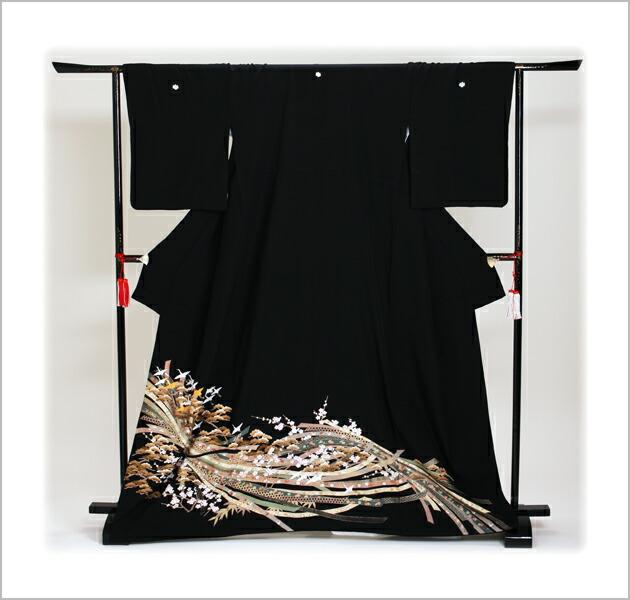 黒留袖 レンタル [標準サイズ:150cm〜163cm] 留袖 レンタル 着物 留め袖 NT-851