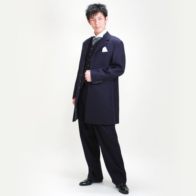 タキシード レンタル 【紺ロングタキシード レンタル】新郎 結婚式 nt023