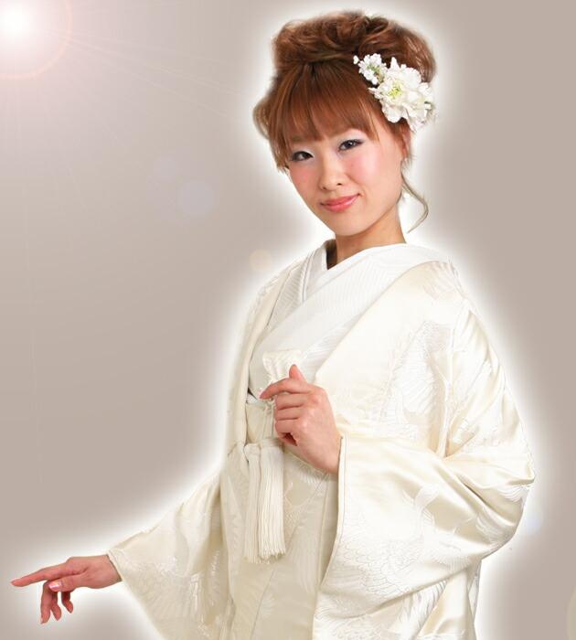 白無垢 レンタル 千羽鶴に七宝 NT-501