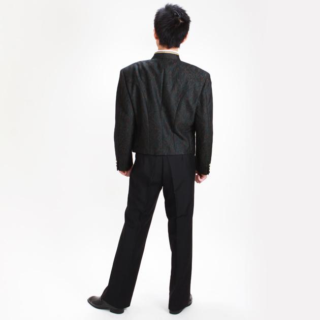 【スペンサー タキシード レンタル】L・XLサイズ/170cm〜182cm/グリーンブラウン パーティ 演奏会 743
