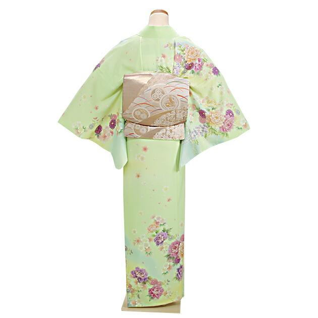 訪問着 レンタル 袷 10月〜5月[〜168cm] お茶会 卒業式 入学式 着物 houmongi183