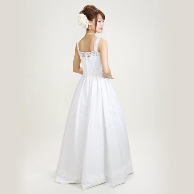 二次会ドレス レンタル 9号 プリンセスライン ホワイト 結婚式の2次会に 8229
