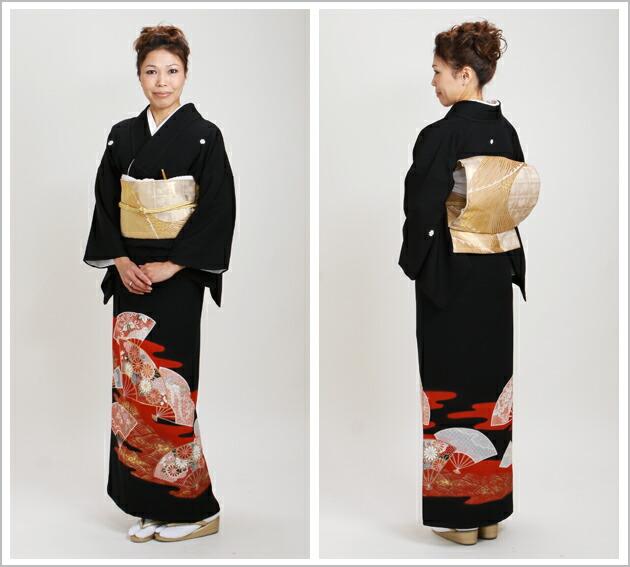 黒留袖 レンタル [標準サイズ:150cm〜163cm] 留袖 レンタル 着物 留め袖 NT-598