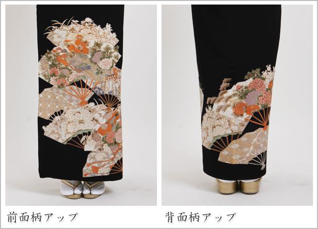 黒留袖 レンタル [標準サイズ:150cm〜158cm] 留袖 レンタル 着物 留め袖 NT-354