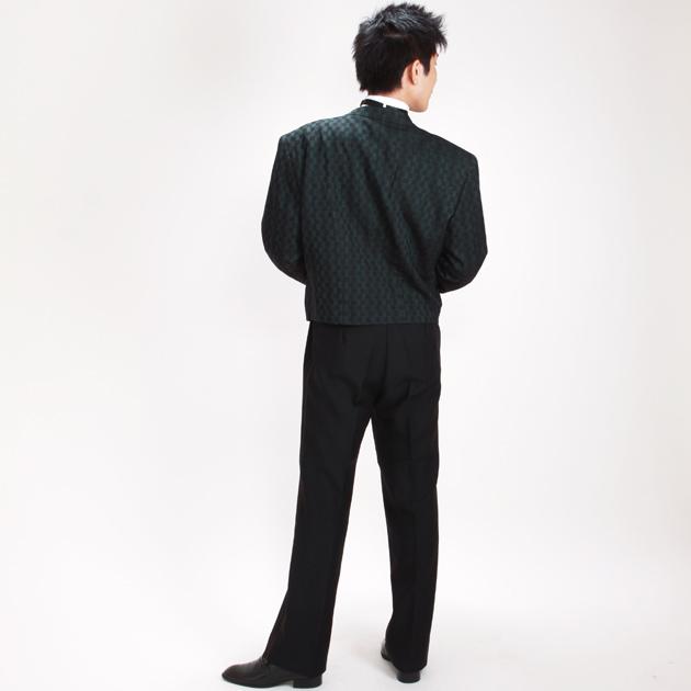 【スペンサー タキシード レンタル】L・XLサイズ/170cm〜182cm/グリーン パーティ 演奏会 12145