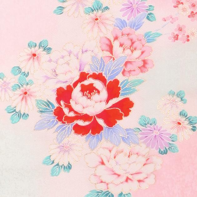 お宮参り レンタル 初着 産着 レンタル 女の子 赤 ピンク/御所車・鶴 【日本製高級正絹】 赤ちゃん 祝着 l-55
