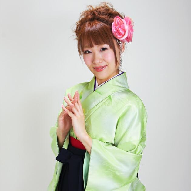 卒業式 袴 レンタル 黄緑色 無地 身長〜160cm,7号〜13号 NT-muji11