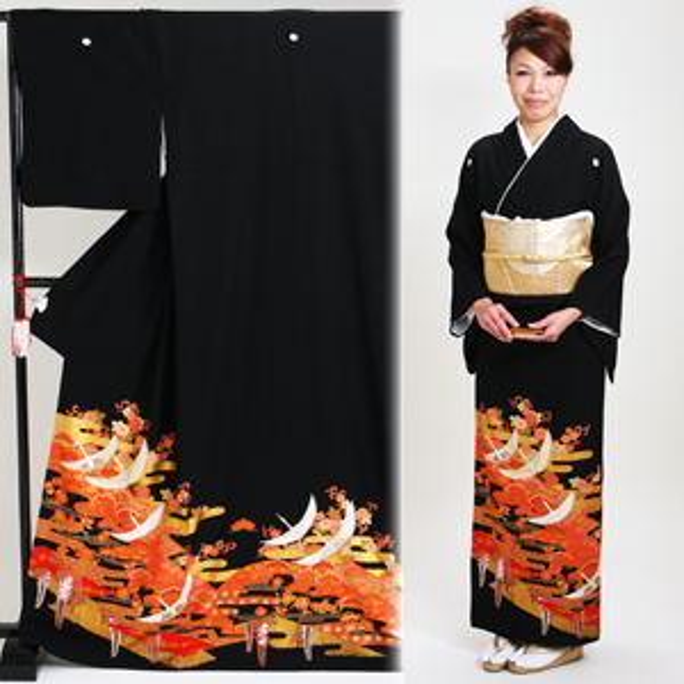 黒留袖 レンタル [標準サイズ:150cm〜163cm] 留袖 レンタル 着物 留め袖 NT-899