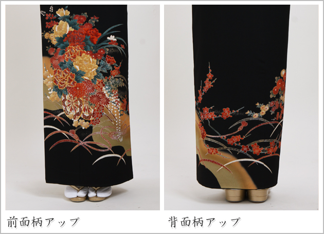 黒留袖 レンタル [広幅:13〜17号]留袖 レンタル 着物 留め袖 NT-LL755