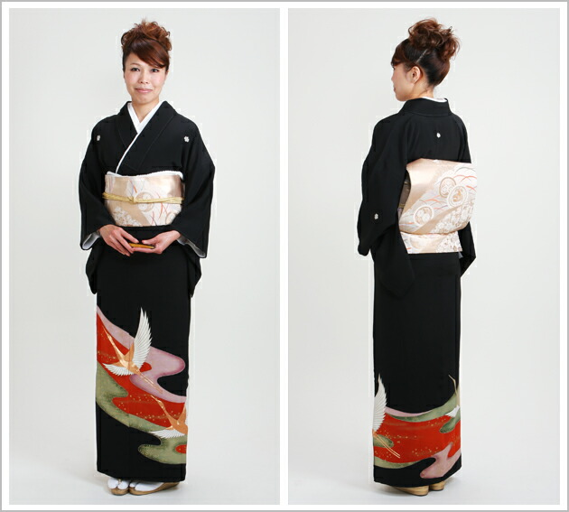 黒留袖 レンタル [標準サイズ:〜157cm] 留袖 レンタル 着物 留め袖 NT-293