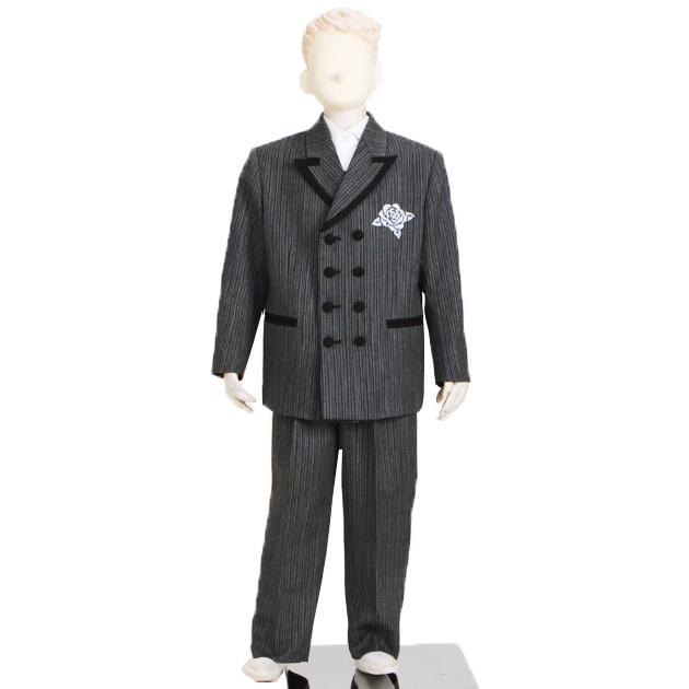 子供 スーツ レンタル 7才 グレー a-8204