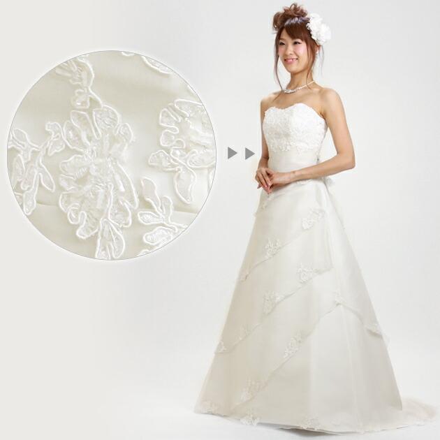 二次会ドレス レンタル 5号 Aライン オフホワイト 結婚式の2次会に 8208
