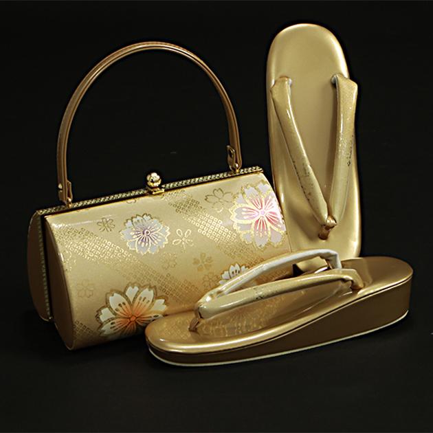草履バッグセット【レンタル品】ゴールド系-50 草履 バッグ セット 留袖 バッグ草履セット バッグ単品 振袖用、礼装用に! bagset-50