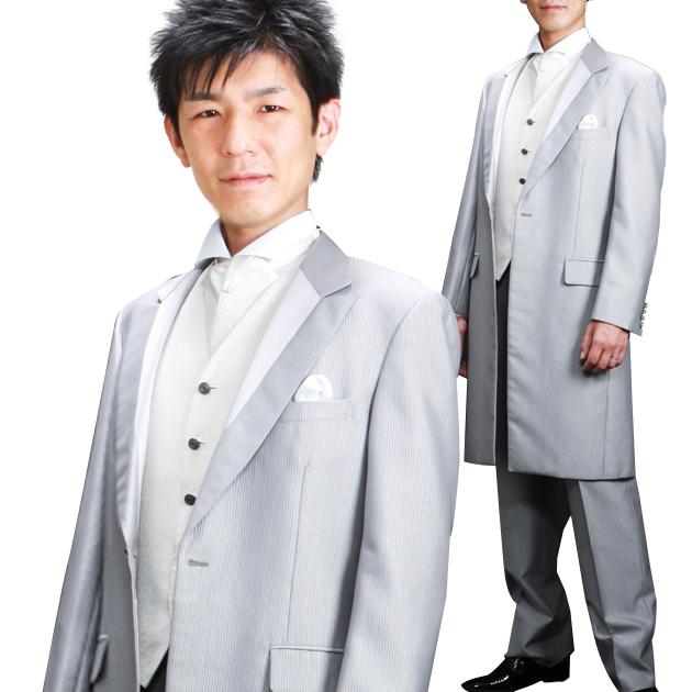 タキシード レンタル 【シルバーフロックコート レンタル】新郎 結婚式 nt019