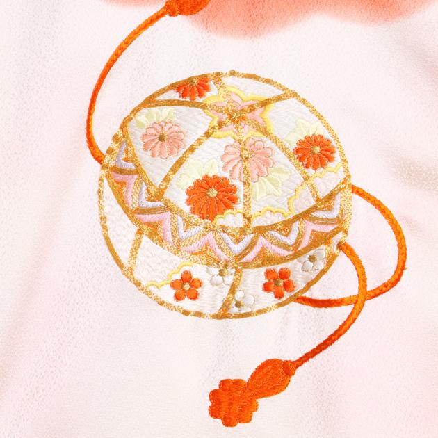 お宮参り レンタル 初着 産着 レンタル 女の子 ピンク/手まり 【日本製高級正絹】 赤ちゃん 祝着 l-58