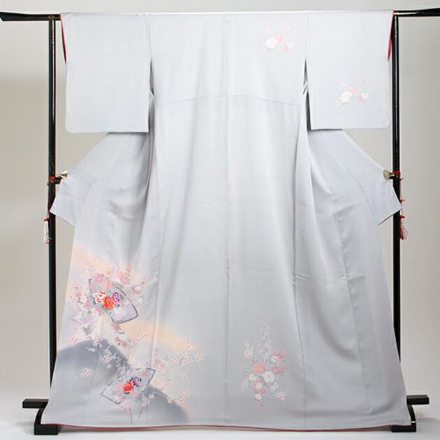 訪問着 レンタル 袷 10月〜5月[〜160cm] お茶会 卒業式 入学式 着物 houmongi18