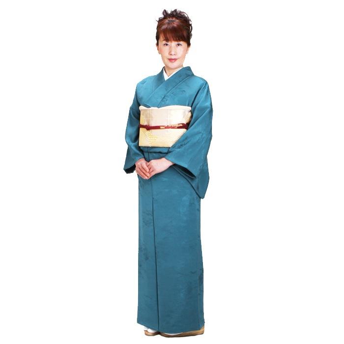 色無地 レンタル 袷 10月〜5月向け 高級正絹 深ブルー 着物 一つ紋 お茶会 入学式 卒業式 NT-23