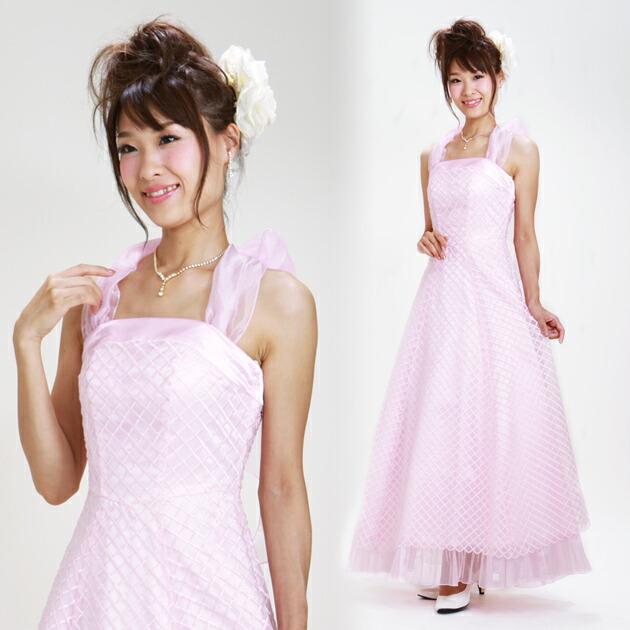 二次会ドレス レンタル 5号-7号 Aライン ピンク 結婚式の2次会に 8102