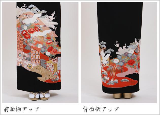 黒留袖 レンタル [広幅:11〜15号]留袖 レンタル 着物 留め袖 NT-L313