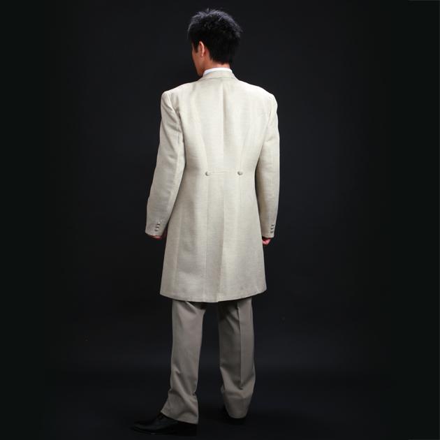タキシード レンタル 【サンドベージュ フロックコート レンタル】新郎 結婚式 nt020