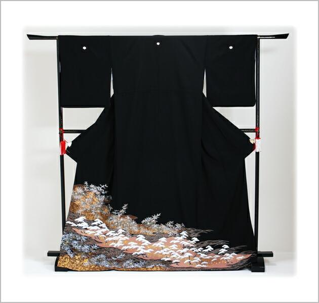 黒留袖 レンタル [標準サイズ:150cm〜160cm] 留袖 レンタル 着物 留め袖 NT-827