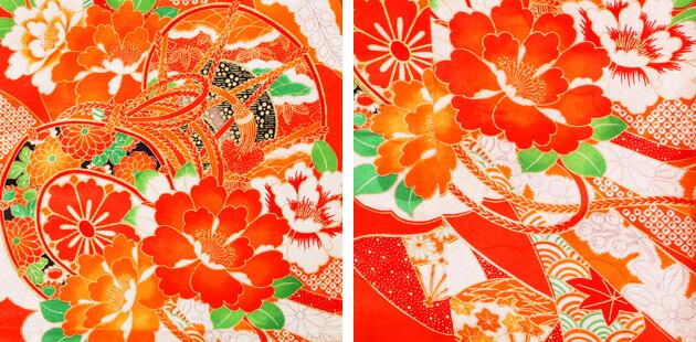 袴 レンタル 女の子/5〜7歳 七五三着物 7歳 七五三着物7歳 朱色/つづみ 卒園式 結婚式 NT-袴ヌ