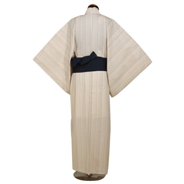 【浴衣 メンズ レンタル】ゆかたレンタル 3点セット☆浴衣・帯・下駄☆nt-my117 白刺子
