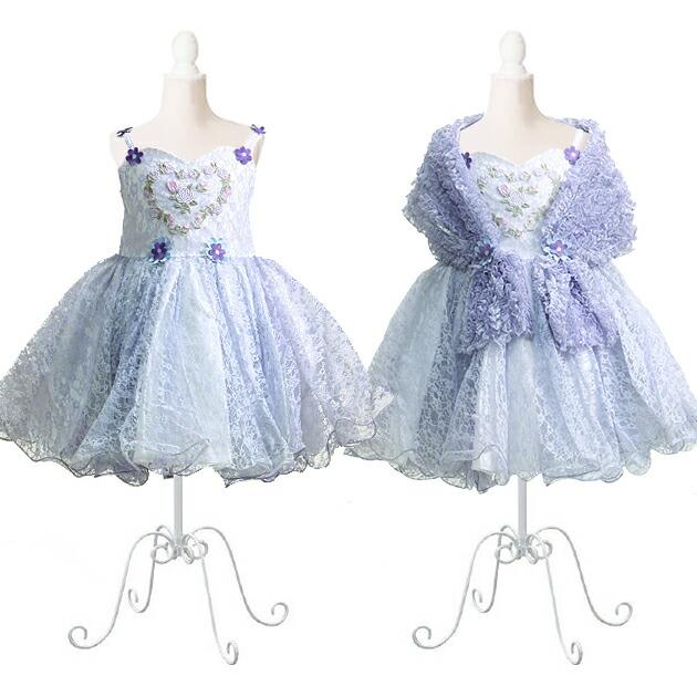 子供 ドレス レンタル 7〜9才 薄紫色 ノースリーブ dj020