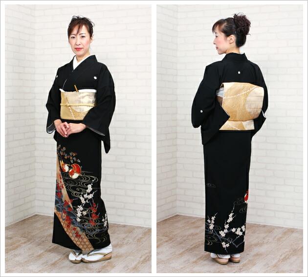 黒留袖 レンタル [標準サイズ:150cm〜164cm] 留袖 レンタル 着物 留め袖 NT-751