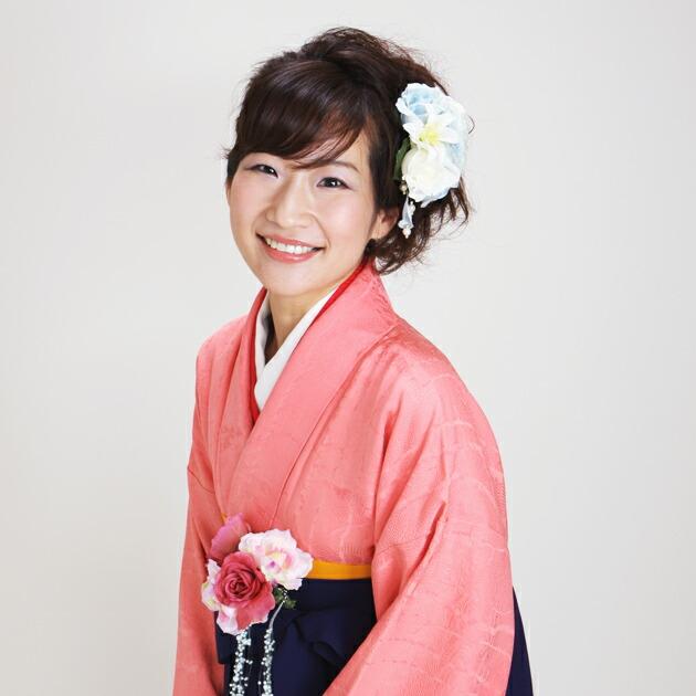 卒業式 袴 レンタル サーモンピンク色 無地 身長〜160cm,7号〜13号 NT-muji36