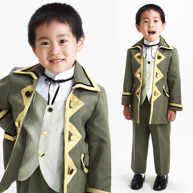 子供 ロングタキシード レンタル 5才 グレー ロングタキシード スーツ レンタル er548