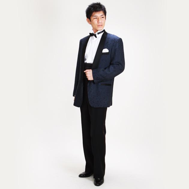 【タキシード レンタル】L・XLサイズ/170cm〜182cm/ブルー パーティ 演奏会 1144