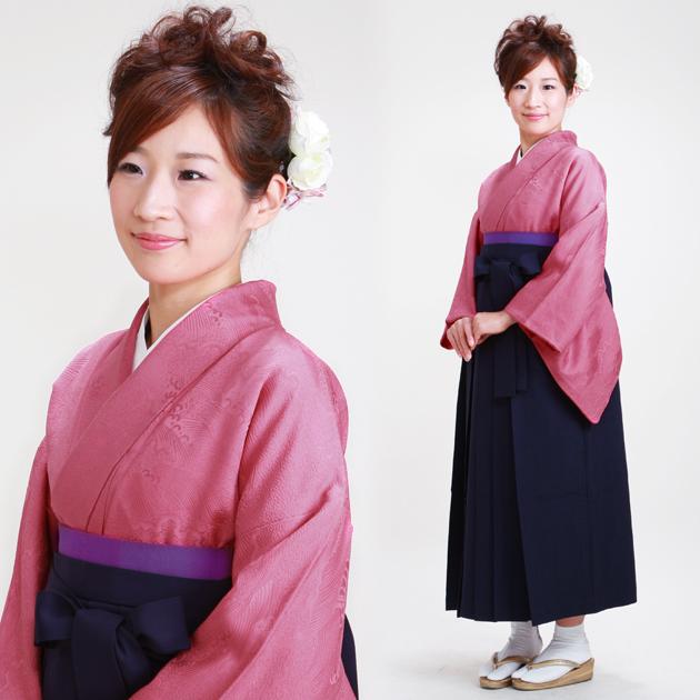 卒業式 袴 レンタル 濃ピンク色 身長〜160cm,7号〜13号 NT-muji60