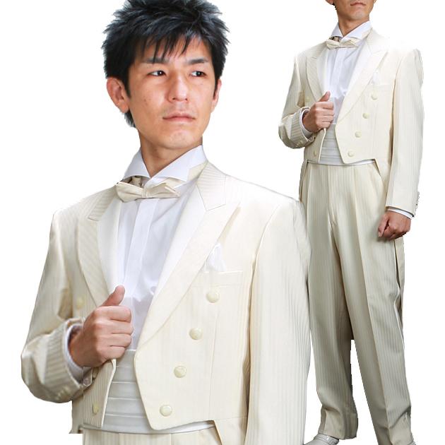 タキシード レンタル 【白エンビ レンタル】新郎 結婚式 nt010