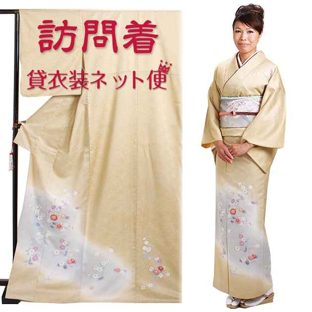 訪問着 レンタル 袷 10月〜5月[〜160cm] お茶会 卒業式 入学式 着物 houmongi110