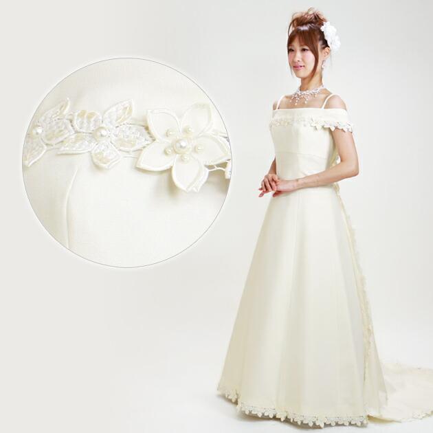 二次会ドレス レンタル 11号 Aライン オフホワイト 結婚式の2次会に 8234