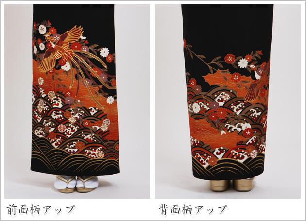 黒留袖 レンタル [広幅:13〜17号]留袖 レンタル 着物 留め袖 NT-LL739