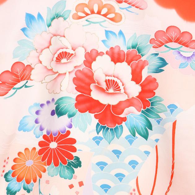 お宮参り レンタル 初着 産着 レンタル 女の子 赤/牡丹 【日本製高級正絹】 赤ちゃん 祝着 l-62