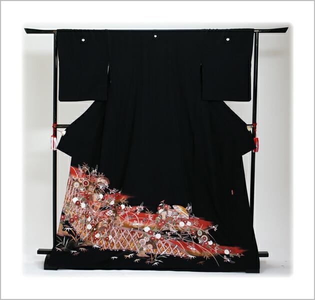 黒留袖 レンタル [標準サイズ:150cm〜163cm] 留袖 レンタル 着物 留め袖 NT-593