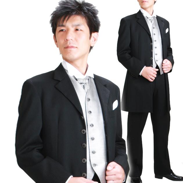 タキシード レンタル 【黒ロングタキシード レンタル】新郎 結婚式 nt021