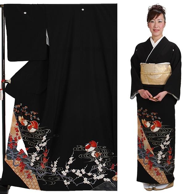 黒留袖 レンタル [標準サイズ:150cm〜160cm] 留袖 レンタル 着物 留め袖 NT-734